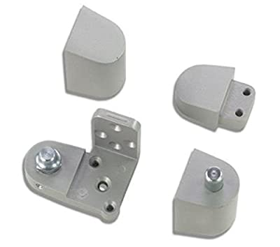 US Aluminum Style Storefront Door Pivot Hinge Set in Aluminum Finish - Choose Handing