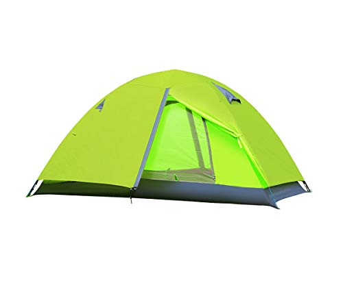 Techcell 2 Person Tent Camping Tent Double Layer Waterproof Tent Backpacking Tents for Camping Hiking Traveling (Green)