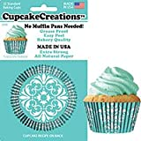 Cupcake Creations 32 Count Turquoise Damask Cupcake Creations Home Decor Products
