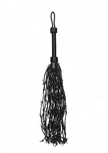 Ouch! by Shots America - Leather Barbed Wire Flogger - Black by Shots Toys