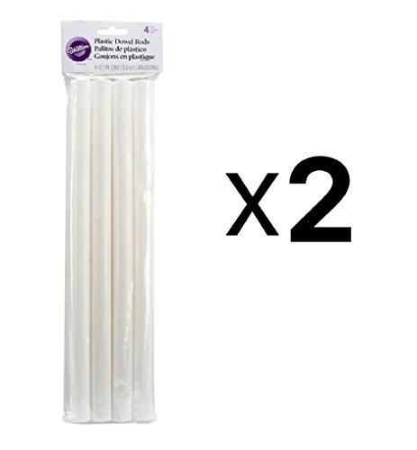 "Plastic Dowel Rods 4/Pkg-12.5"""