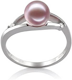Lavender 6-7mm AAAA Quality Freshwater 14K White Gold Cultured Pearl Ring