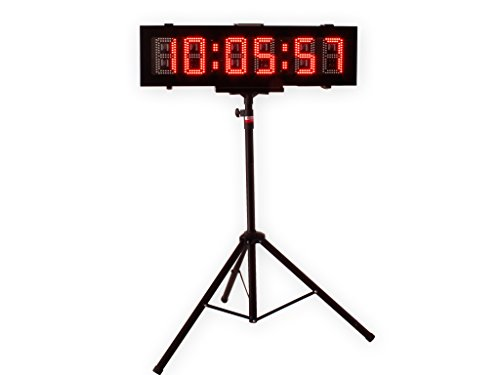Eu 6'' 6 Digits Double-Sided Outdoor Red Led Race Timer For Running Events With App by EU DISPLAY