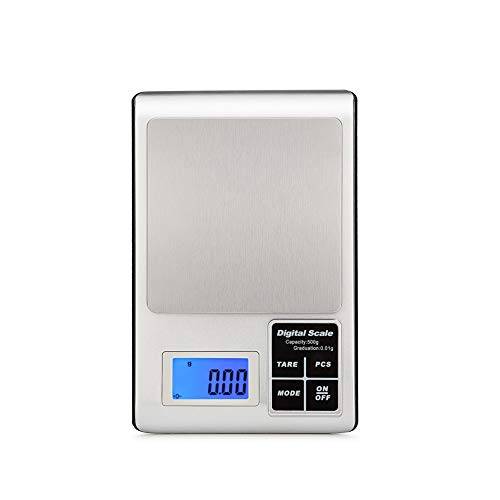 ZCY Digital Kitchen Weighing Scale, Food Electronic Balance Measuring Scale For Home Baking Cooking Cuisine Stainless Steel (Capacity : 3kg 0.1g) (Convert 3-3 Kg To Lbs And Oz)