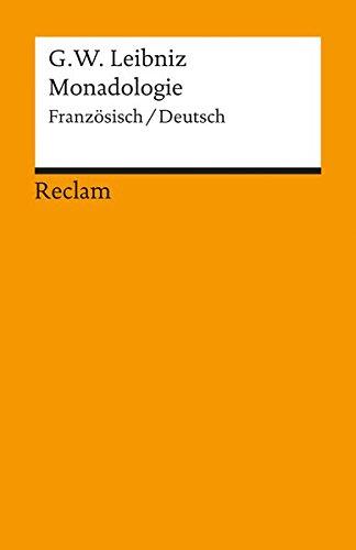 Monadologie: Franz./Dt. (Reclams Universal-Bibliothek) Taschenbuch – 1998 H Hecht Gottfried W Leibniz Philipp jun. GmbH