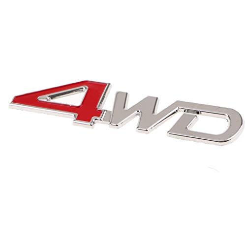 Homyl Universal Car SUV Body Fender Trunk Zinc Alloy 3D ''4WD''Logo Sticker by Homyl (Image #7)
