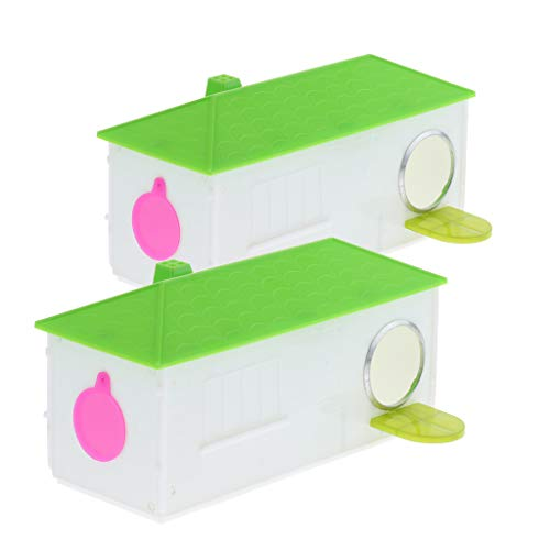 st Breeding Box Plastic House Hideouts Nest Canary Finch Budgie ()