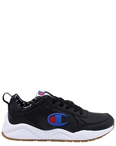 Champion Men's 93Eighteen Black Ankle-High Leather Fashion Sneaker - 12M (Champions Sneakers Men)