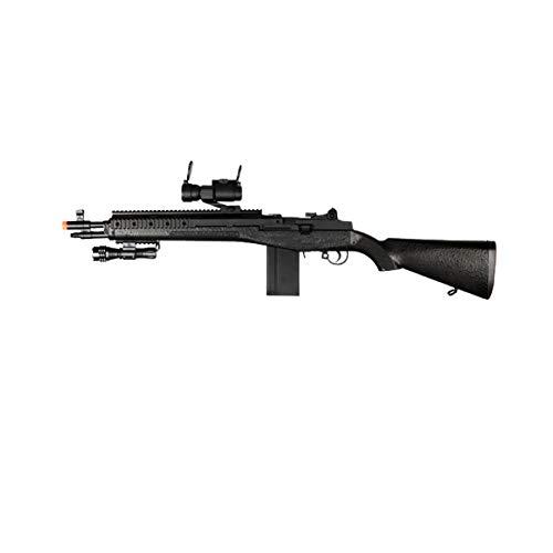 UK M160C2 Socom 16 Carbine Spring Airsoft Sniper Rifle - Black - 380 Feet Per Second