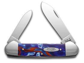 CASE XX Smooth Kirinite Patriot Synthetic Canoe Stainless Pocket Knife Knives