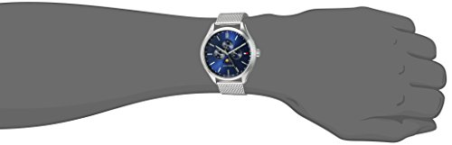 Tommy Hilfiger Men's 'OLIVER' Quartz Stainless Steel Casual Watch, Color:Silver-Toned (Model: 1791302)