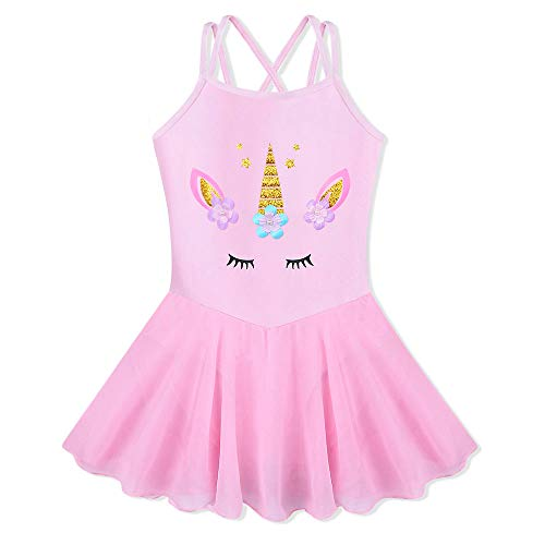 BAOHULU Girl's Skirted Leotards Camisole Cartoon Ballet Tutu Dress - Camisole Dance Dress