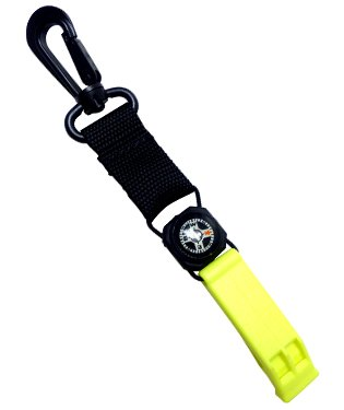 Innovative Scuba Safety Whistle with Compass and Lanyard