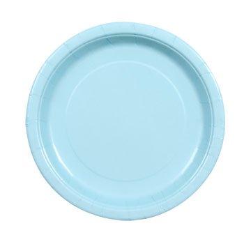 Party Color Paper Plates Light Blue 9