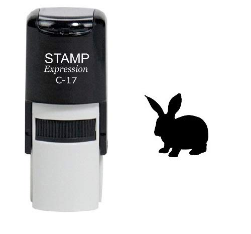 (StampExpression - Bunny Rabbit Self Inking Rubber Stamp - Black Ink)