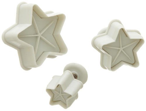 Ateco 3 Star Plunger Cutter Set, Set of - Plunger Cutter Star