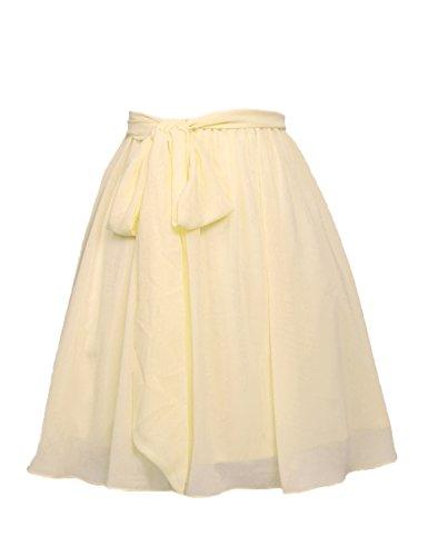 Stillluxury - Falda - trapecio - para mujer amarillo claro
