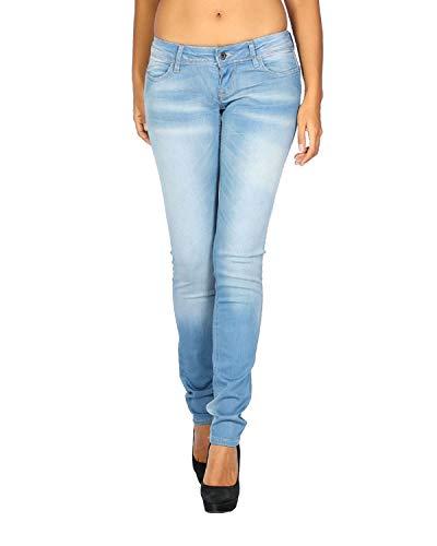 MELTIN'POT - Women's Jeans Monie - Skinny Push-up - Blue, W31 / L34