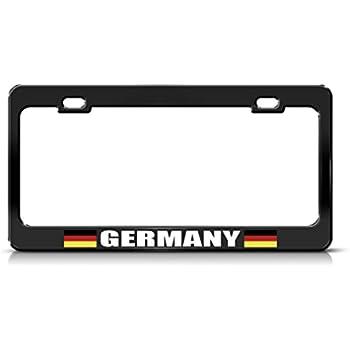 Exclusive METAL chromed SILVER European License Plate Tag Holder Frame BMW AUDI