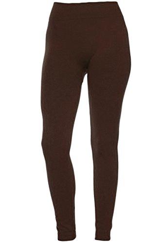 KMystic Winter Fleece Lined Leggings (One Size, Brown ...