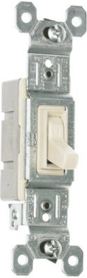 Standard Single Pole - PASS & SEYMOUR 660LAGU Grounded Standard Single Pole Toggle Switch, 15-Amp, Almond