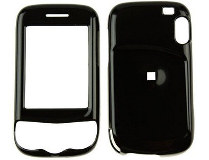 Hard Plastic Black Snap On Phone Protector Case for HTC Wing (Htc Wing Solid Case)