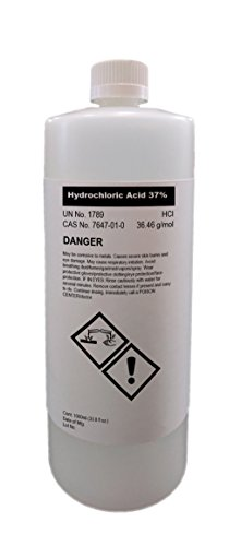 Hydrochloric Acid 37% High Purity 32oz (1000ml)