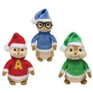 amazon com ty beanie babies alvin the chipmunks set of 3 alvin