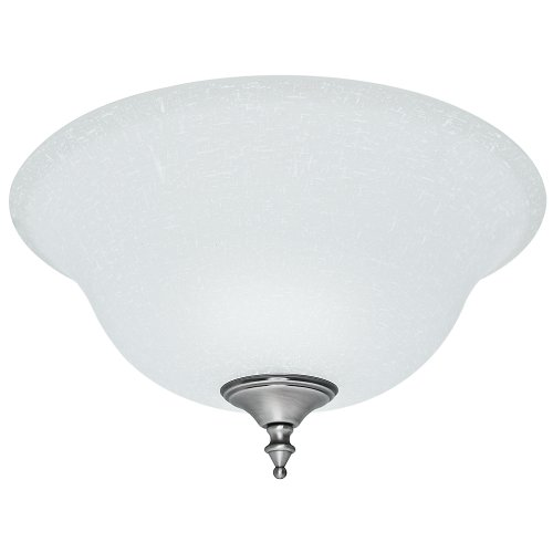 Hunter 99162 White Linen Bowl Glass (Replacement Glass Shades For Ceiling Fan Lights)