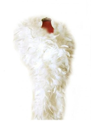 SACAS 100g Ivory Feather chandelle boa for wedding, bridal party, costume