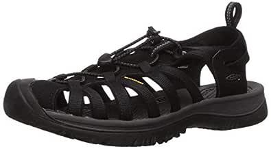 KEEN Australia Women's Whisper Trekking Sandal, Black/Magnet, 6.5 US