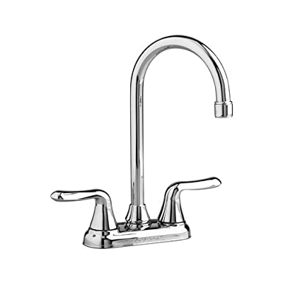 American Standard Colony Soft Double-Handle Centerset Bar Sink Lavatory Faucet with Brass Gooseneck Spout