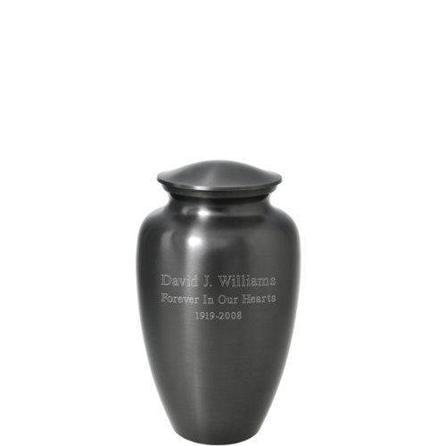 Engravable Urns (Custom Engravable Simple Grey Cremation Urn (3