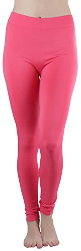 ToBeInStyle Women's Poly Blend Full Length Leggings - CFusion - One Size (Red Aox)