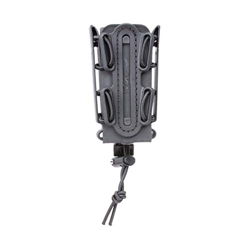 (G-CODE (Black) Soft Shell Scorpion -Tall- Pistol Mag Carrier with P1 molle/Stacking Clip 100% Made in The USA (1153-3B))