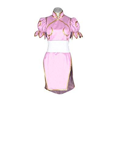 [Mtxc Women's Street Fighter Cosplay Costume Chun Li 3rd Kid Size Small Pink] (Street Fighter Kid Costume)
