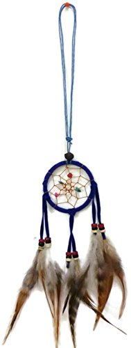 - Moose546 Navy Blue Dream Catchers Adjustable Cotton Cord with Suede,Feathers and Beads, 2.5