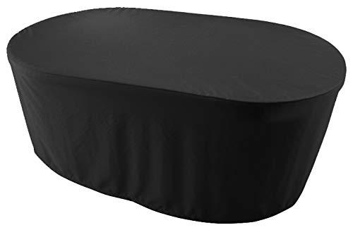 KaufPirat Premium - Telo di Copertura Ovale per mobili da Giardino, 230 x 135 x 75 cm, colore Nero