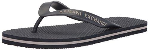 A X Armani Exchange Mens Solid Flip-Flop Navy