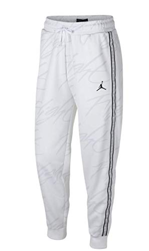 Jordan Men's Jumpman Tricot Standard Fit Graphic Athletic Basketball Pants (White, X-Large)]()