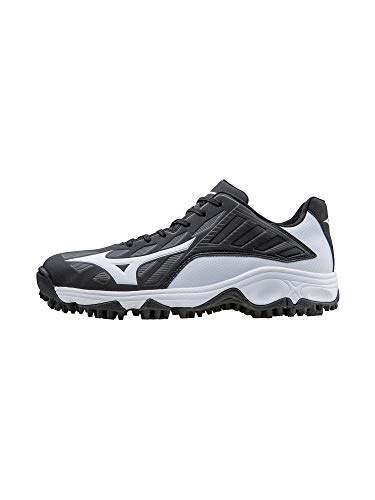 Mizuno Men's 9 Spike Advanced Erupt 3 bk-wh, Black/White, 12 M US -