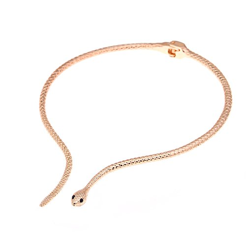 LUREME Unique Classic Women Jewelry Open End Snake Shape Long Metal Necklace for Girls Teens(nl004330-2)]()