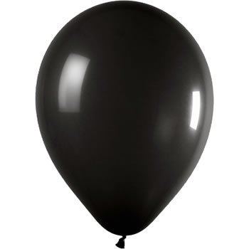 25 x 12 inch Black Metallic Wedding Balloons GIFT 4 ALL OCCASIONS LTD