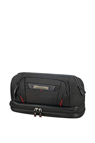 (SAMSONITE Pro-DLX5 Cosmetic Cases - Large Opening Toiletry Bag, 28 cm, 1 liters, Black)
