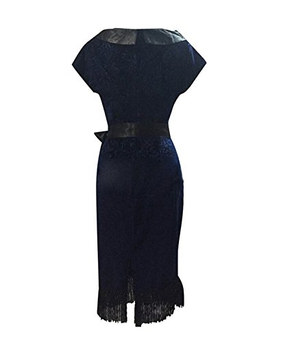Soirée Florale Des Femmes En Mode Ca Wiastband Crayon Wiggle Robe Midi Bleu