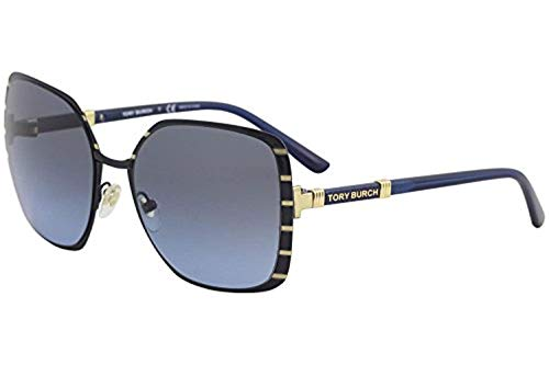 Tory Burch Women's 0TY6055 57mm Midnight Navy/Gold/Blue Gradient One Size from Tory Burch