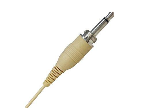 HD10 Microfono ad archetto color carne pelle rosa beige professionale a condensatore polarizzato omnidirezionale per radiomicrofoni Jack 3,5mm con filettatura MASCHIO mod MPE
