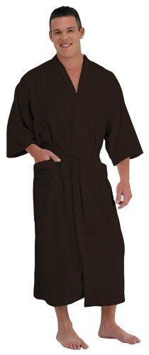 Canyon Rose Cloud 9 Men's Plush Microfiber Spa Robe, Chocolate Brown, - Microfiber Mens Robe