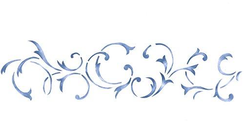 Designer Stencils Four Inch Swirl Wall Stencil SKU #744 by (Swirls Stencils)