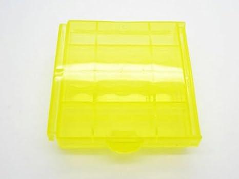 Caja Estuche Plástico para Pila Batería AA AAA Portapila Portabateria Recargable 4000am: Amazon.es: Electrónica